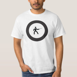 FENCING | black and white icon in roundel T-Shirt