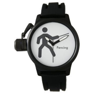 FENCING | black and white icon Watch