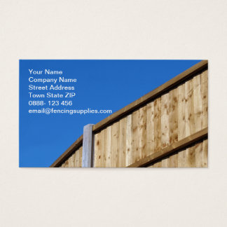 Fencing Business Card