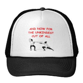 fencing trucker hat