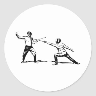 Fencing Classic Round Sticker