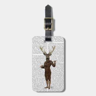 Fencing Deer Full Luggage Tag