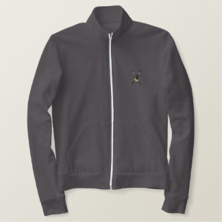 Fencing Embroidered Fleece Jogger Jacket