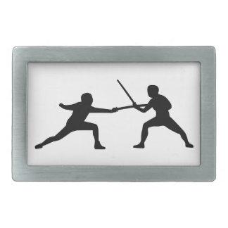 Fencing fencer couple belt buckles
