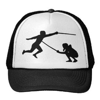 Fencing fencer mesh hat