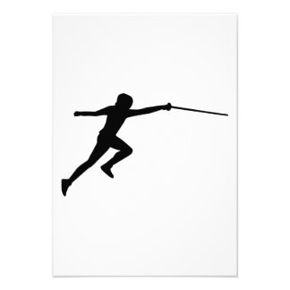 Fencing fencer personalized invites