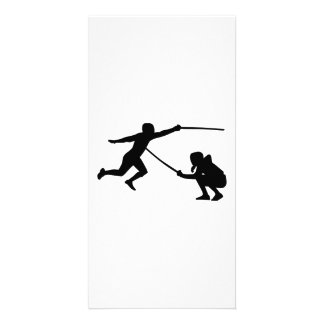 Fencing fencer customized photo card