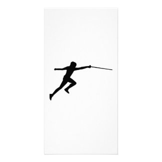Fencing fencer personalized photo card
