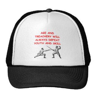 fencing trucker hats
