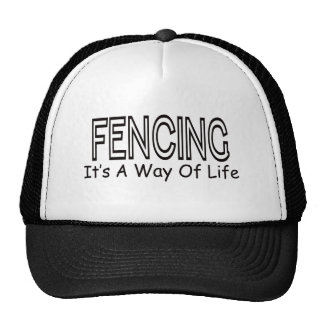 Fencing It s A Way Of Life Mesh Hats