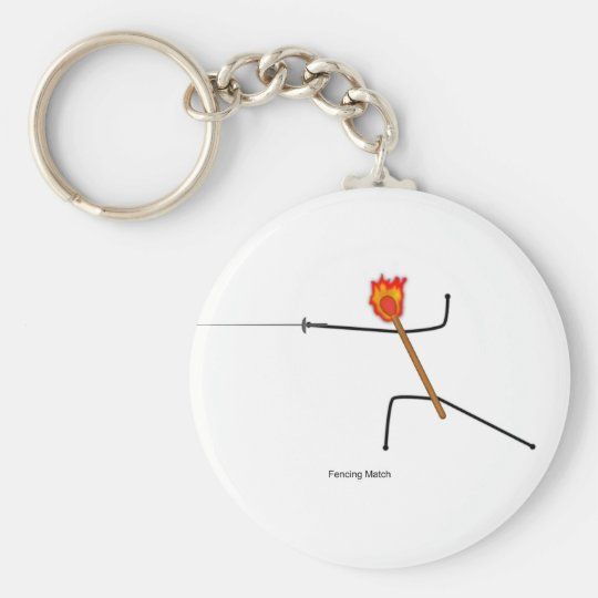Fencing Match - Key Ring