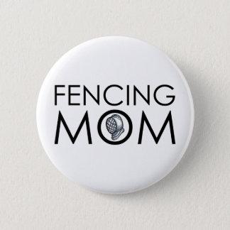 Fencing Mom 6 Cm Round Badge