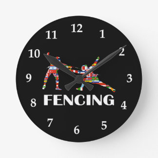 Fencing Round Clock