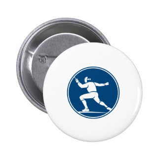 Fencing Side Circle Icon 6 Cm Round Badge