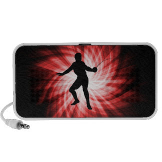 Fencing Silhouette; Red iPod Speakers