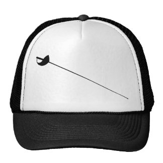 Fencing Sword Outline Silhouette Cap