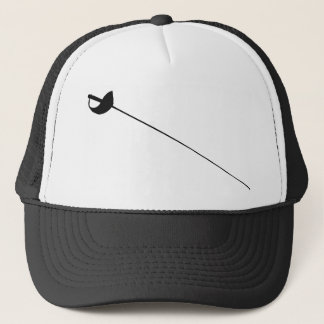 Fencing Sword Outline Silhouette Trucker Hat