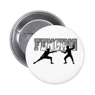 Fencing T-shirts and GIfts. 6 Cm Round Badge