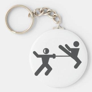 Fencing vs taekwondo keychain