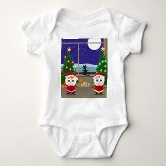 Fencing Xmas Elfs Baby Bodysuit