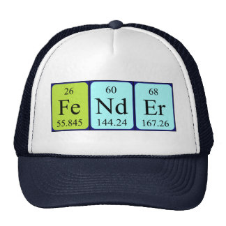 Fender periodic table name hat