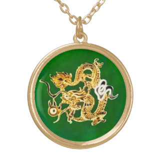 Feng Shui Jade Dragon Pendant