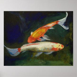 Feng Shui Koi Fish Print