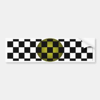 Fengshui - Designer New Olive Black White Bumper Sticker