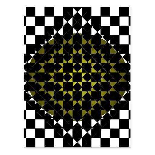Fengshui - Designer New Olive Black & White Post Cards