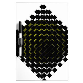 FengShui Fusion Army Green Black Geometric Hipster Dry-Erase Boards