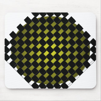 FengShui Fusion Army Green Black Geometric Hipster Mouse Pad