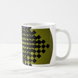 FengShui Fusion Army Green Black Geometric Hipster Mug