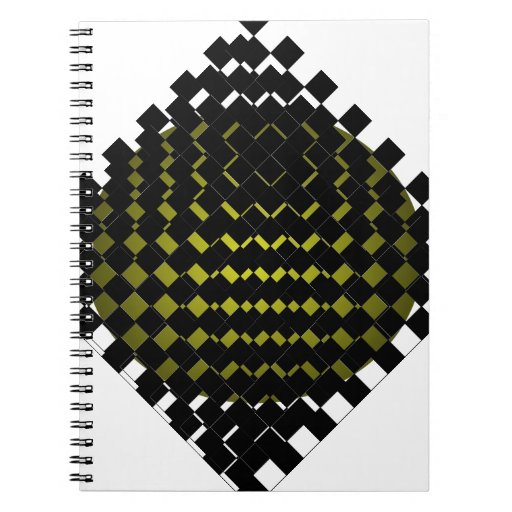 FengShui Fusion Army Green Black Geometric Hipster Journal