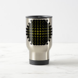 FengShui Fusion Army Green Black Geometric Hipster Stainless Steel Travel Mug