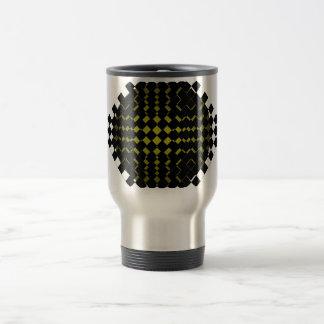 FengShui Fusion Army Green Black Geometric Hipster Travel Mug