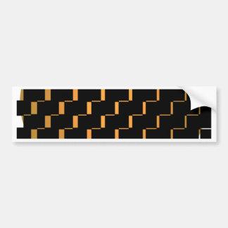FengShui Fusion Gold Black Geometric Hipster 2 Bumper Sticker