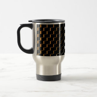 FengShui Fusion Gold Black Geometric Hipster 2 Travel Mug