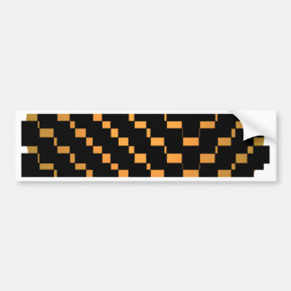 FengShui Fusion Gold Brown Black Geometric Hipster Bumper Sticker