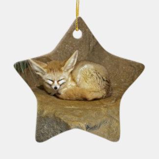 fennec fox ceramic star decoration