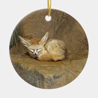 fennec fox christmas ornament