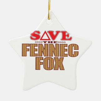 Fennec Fox Save Ceramic Star Decoration