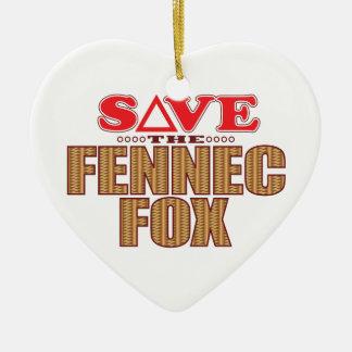 Fennec Fox Save Christmas Ornament