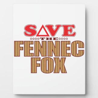 Fennec Fox Save Plaque