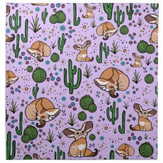 Fennec Foxes in Purple Napkin