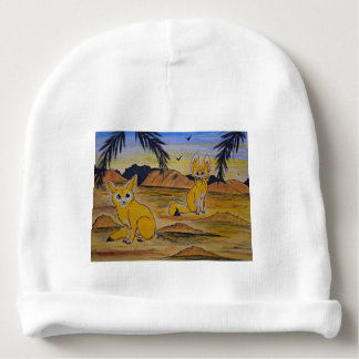 Fennec Foxes in the desert. Baby Beanie