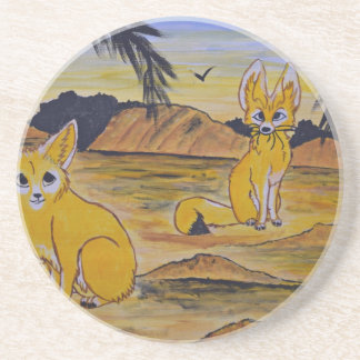 Fennec Foxes in the desert. Coaster