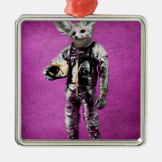 fennec the captain purple Silver-Colored square decoration