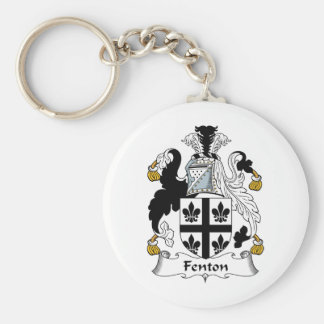 Fenton Family Crest Basic Round Button Key Ring