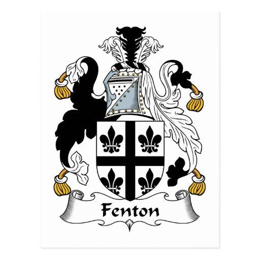 Fenton Family Crest Post Card