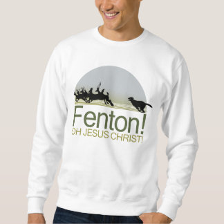 Fenton! the dog chasing deer in Richmond Park Sweatshirt
